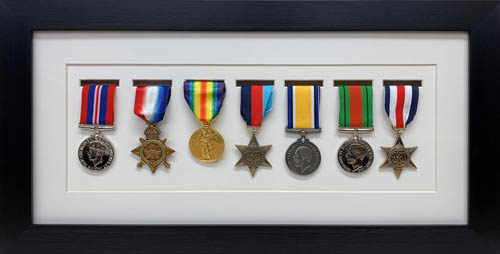 Military / War / Sports Medal 3D Box Picture Frame Fits Seven Medal